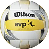 Wilson AVP II Replica Beach Ball, Yellow/White
