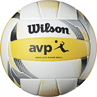 Wilson AVP II Replica Beach Volleyball - Taille Officiel Jaune/Blanc Wilson Sporting Goods - Team WTH6017ID