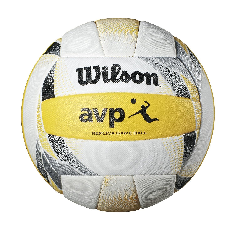 Wilson AVP II Replica Beach Volleyball - Taille Officiel Jaune/Blanc Wilson Sporting Goods - Team WTH6017ID