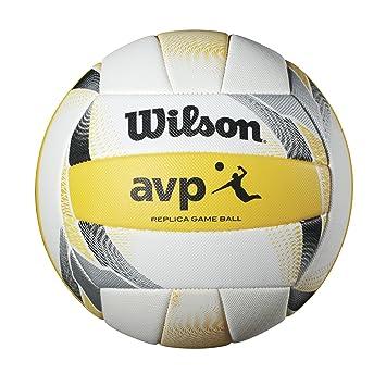 WILSON AVP II Replica Pelota de Playa, Amarillo/Blanco, Adultos Unisex, Talla única: Amazon.es: Deportes y aire libre