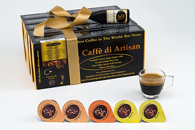 Caffè di Artisan Coffee Pods, 50 cápsulas de café de sabor ...