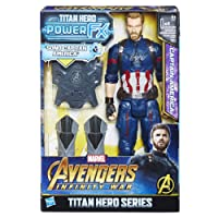 Hasbro Marvel Avengers Infinity War Captain America Titan Hero Power FX (Personaggio 30cm, Action Figure), 30 cm, E0607103