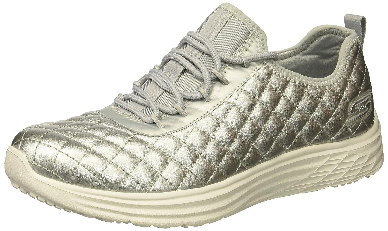 Skechers Damen Bobs Swift-Social Hustle Sneaker  35 EU|Silber (Silver)