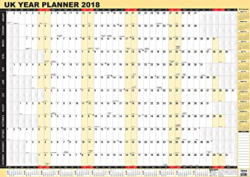 2018 year wall plannerlaminated yearly wall planner calendar by arpan a1 2018