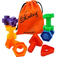 Jumbo Nuts and Bolts Toddler Toys - Skoolzy Montessori Toys Building Construction Set | 12 pc Occupational Therapy Tools…