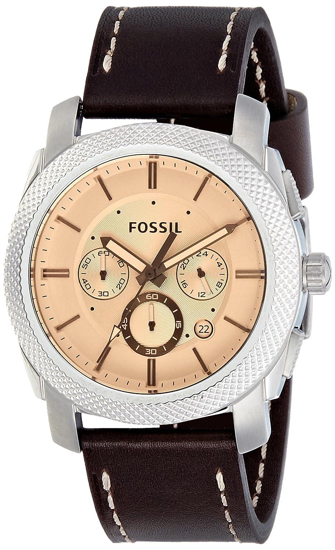Amazon.com: Fossil Mens FS5170 Machine Chronograph Dark Brown Leather Watch: Watches