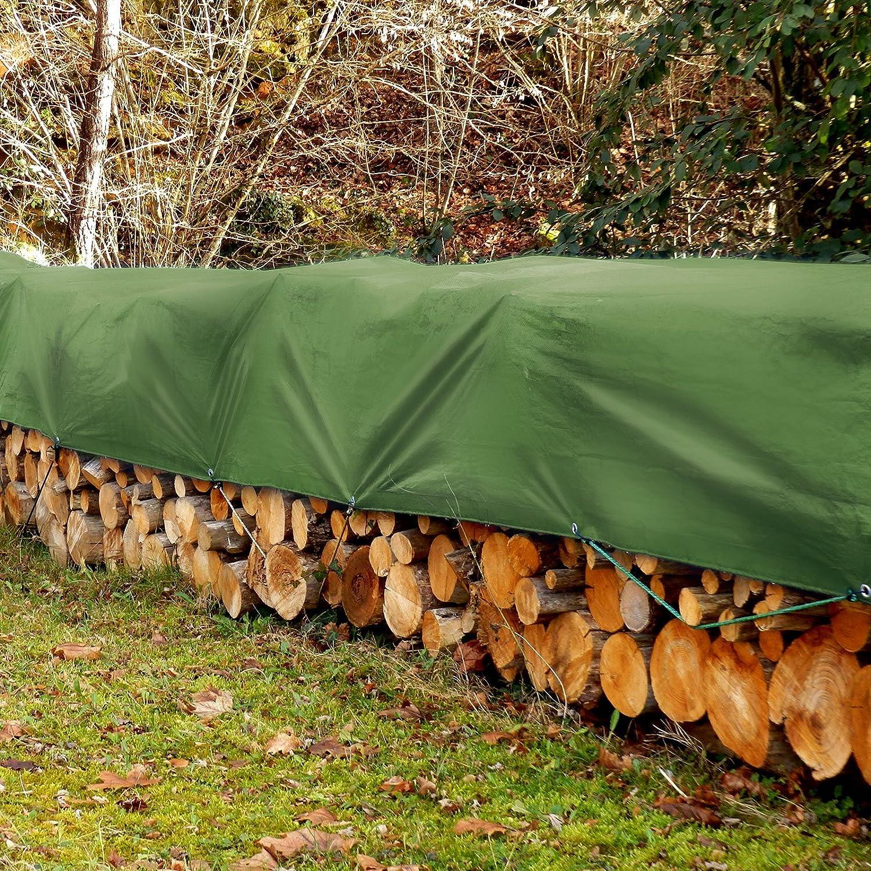 Tarps Medium Duty Waterproof 14 x 16 casa pura 4058171264529 Large Tarpaulin in Multiple Sizes Ground Tent Trailer Cover 6 oz//Sq Yd Green