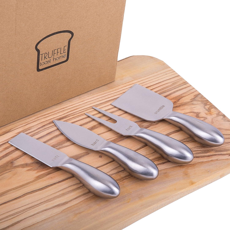 Amazon.com: PREMIUM – Juego de cuchillos de queso de acero ...