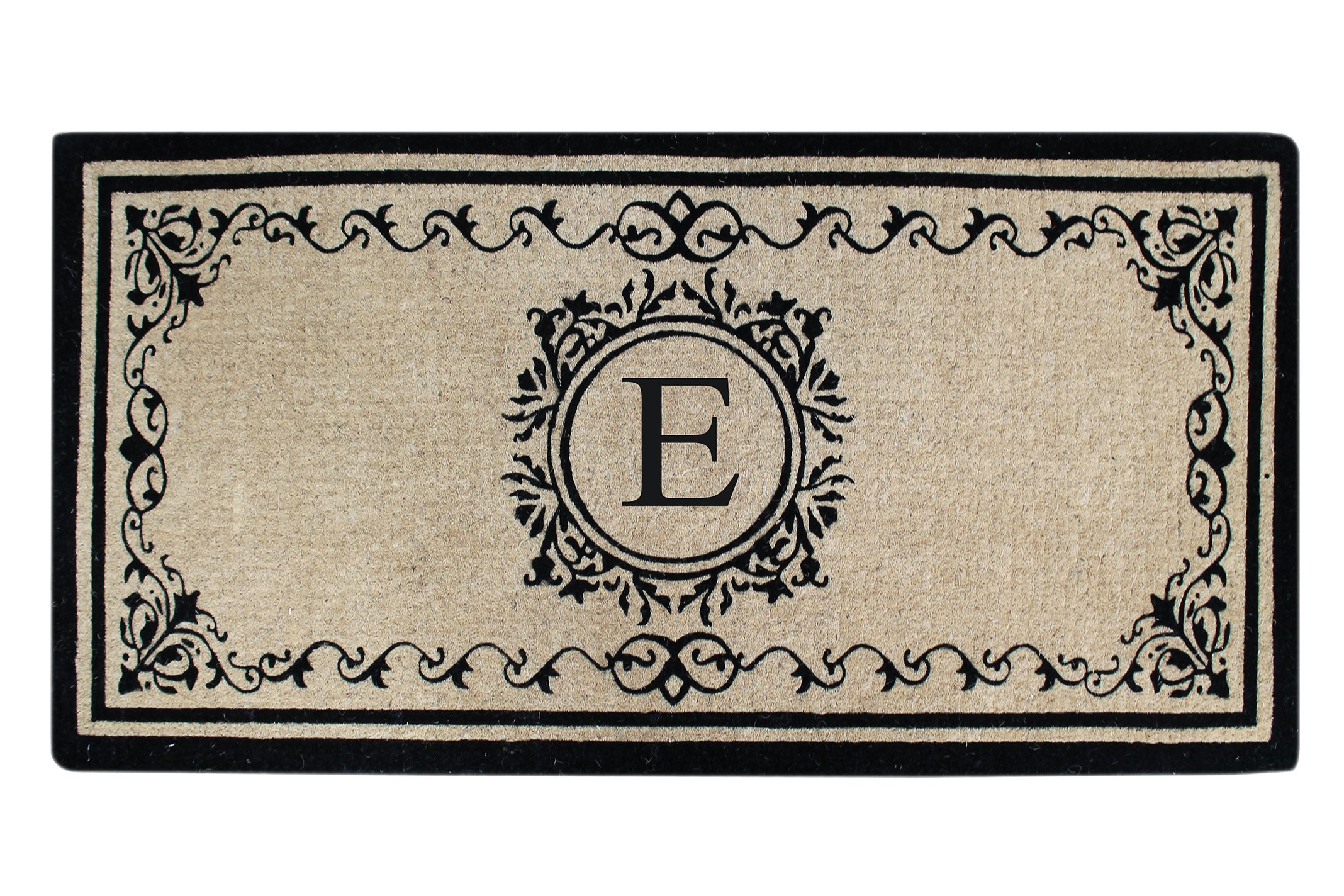 Coco Fibre Extra Thick Double Doormat-Monogrammed,A1HOME200061-E