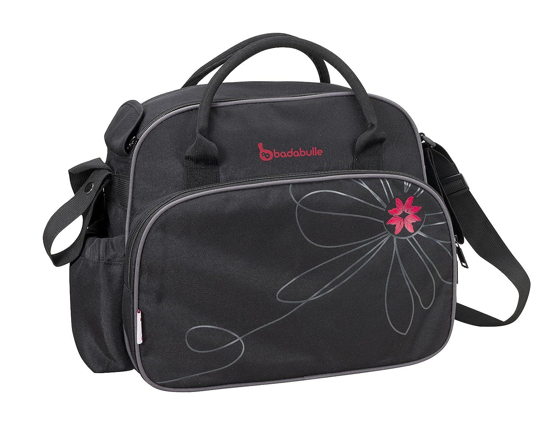 Black//Pink Badabulle Vintage Baby Changing Bag