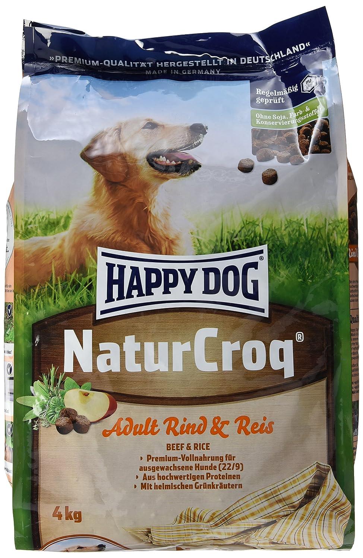 happy dog hundefutter 2446 naturcroq rind reis 4 kg ebay. Black Bedroom Furniture Sets. Home Design Ideas