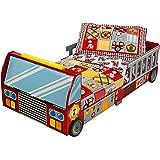 KidKraft 76031 Feuerwehrauto Kinderbett aus Holz für Kleinkinder Möbel für Kinderzimmer