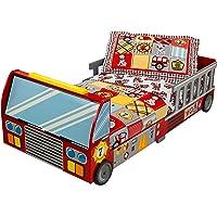 KidKraft 76031 Lit enfant en bois Camion de Pompiers, chambre enfant, meuble