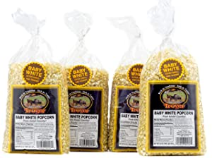 Troyer Popcorn Kernels, Baby White, 32 Ounces (Pack of 4)