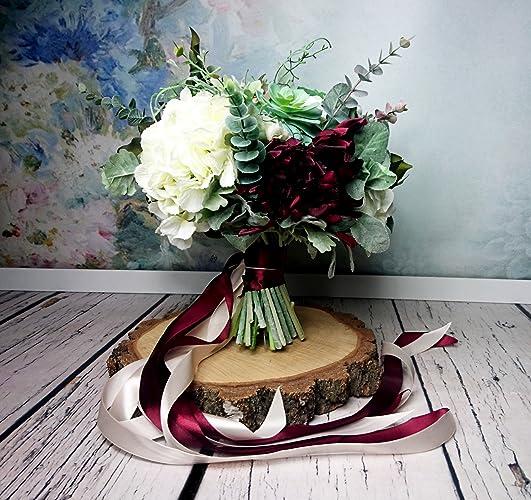 Amazon best quality boho wedding bouquet silk flowers burgundy best quality boho wedding bouquet silk flowers burgundy greenery mightylinksfo