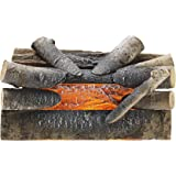 "Pleasant Hearth 20"" Electric Crackling Natural Wood Log"