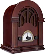 ClearClick Retro AM/FM Radio with Bluetooth - Classic Wooden Vintage Retro