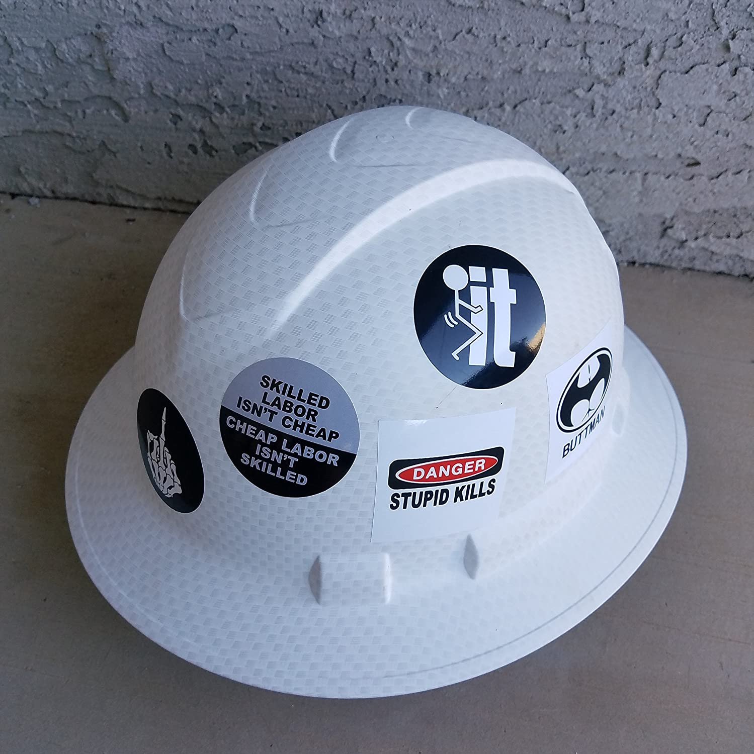 Funny hard hat stickers best seller 14 decal value pack great for a construction toolbox hardhat lunchbox helmet mechanic military more