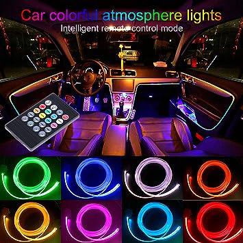 TABEN - Kit de iluminación LED para interior de coche con 8 colores, impermeable,