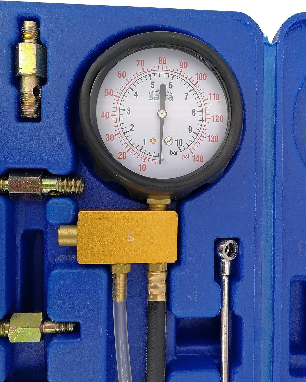 Satra Kompression-Pruefer-Druck-Tester-Benzin-Druckmesser-Einspritzanlage-Werkzeug