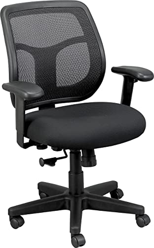 Eurotech Seating Apollo Midback Swivel Chair, Black