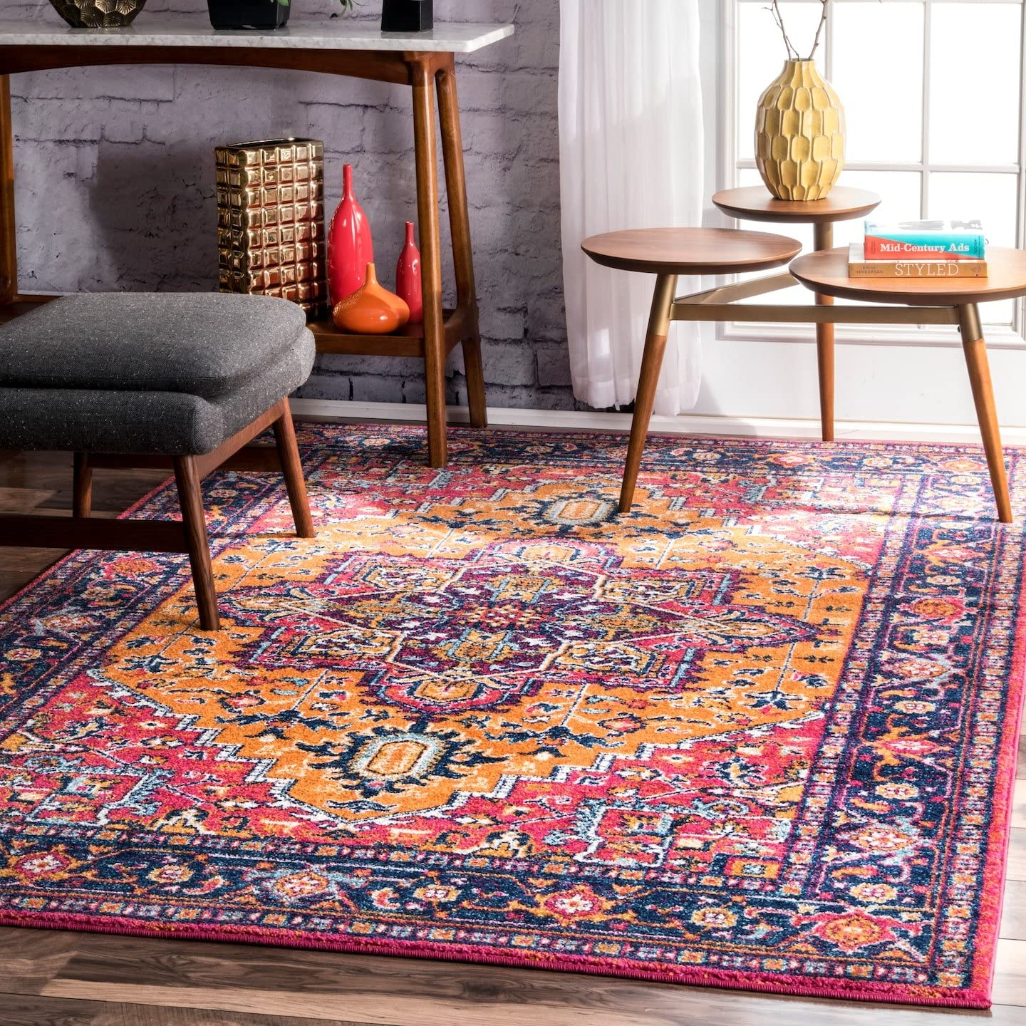 nuLOOM 200RZBD32B-8010 Vonda Fancy Persian Area Rug, 8 x 10 , Orange
