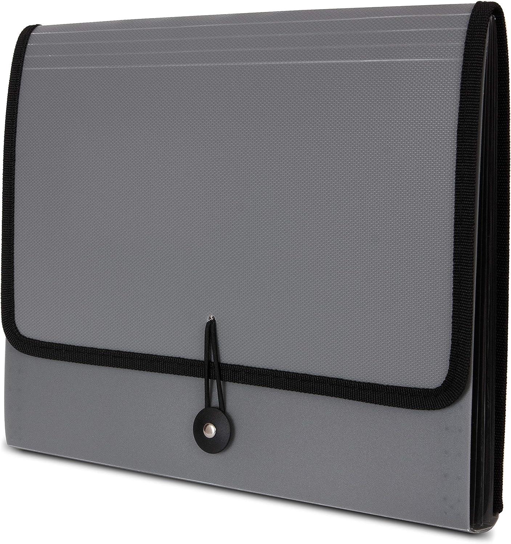 Carpeta de documentos tama/ño A4, 13 bolsillos, expansible, con asa port/átil Fittoway