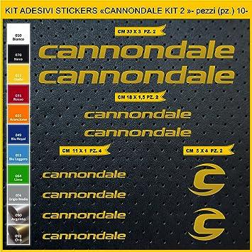 Kit Pegatinas Stickers Bicicleta Cannondale - Kit 2-10 Piezas ...