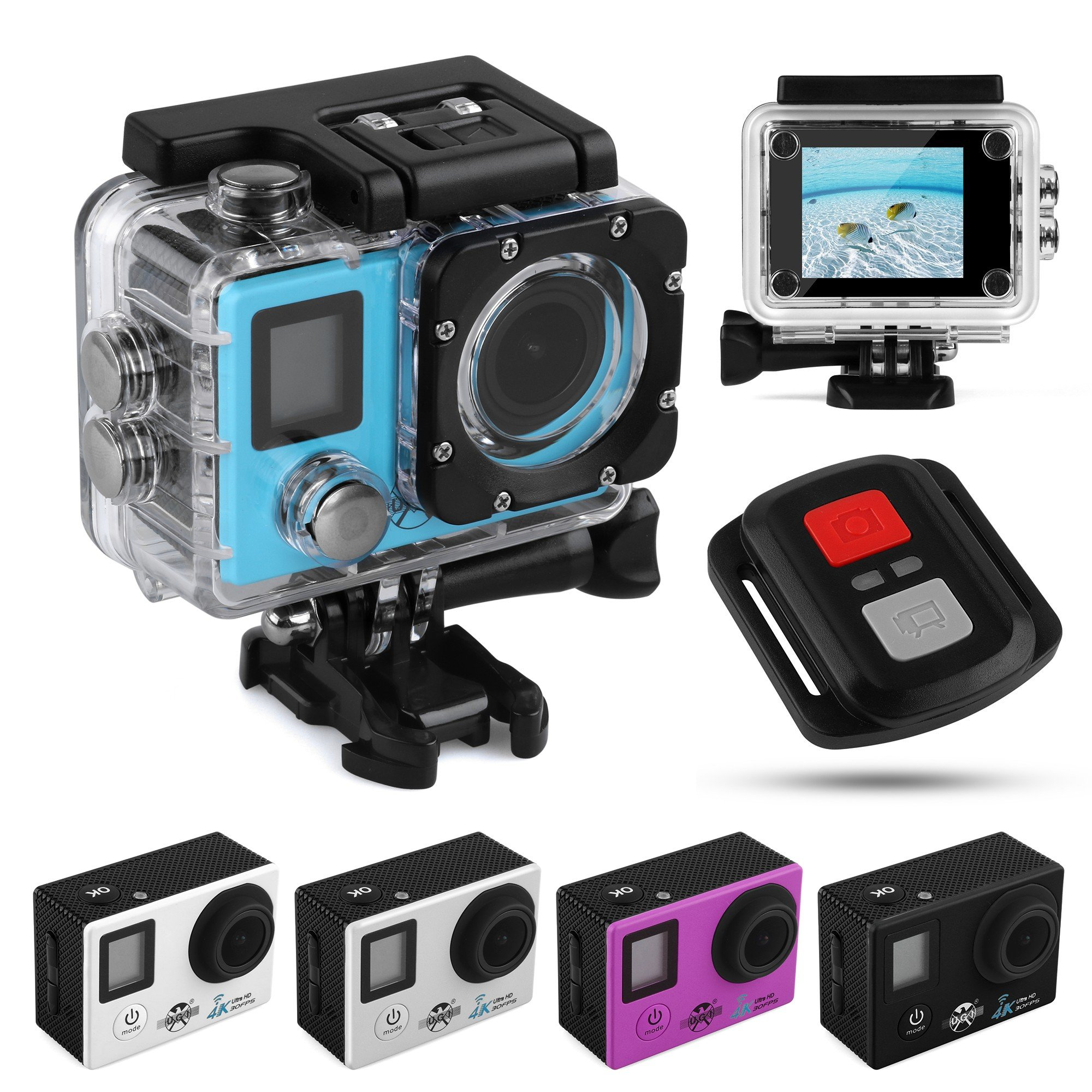 UGI Action Camera 1080P 4K Ultra HD Sports Camera Waterproof Wifi DVR Video Camcorder with Accessories for Kids,Snorkeling,Motorcycle,Bike,Helmet,Car,Ski and Water Sports