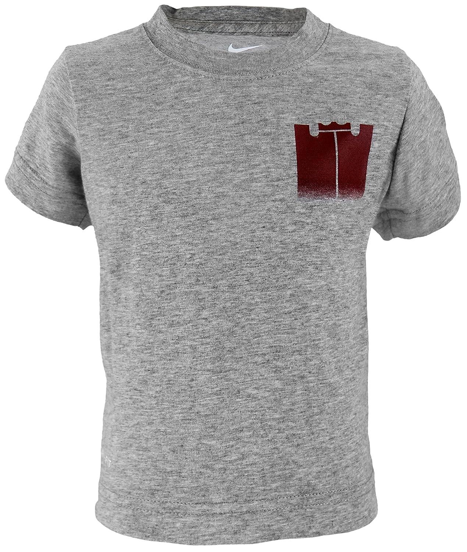 3T Nike Toddler Boys Dri-Fit Athletic Cut Lebron James Monogram Tee Shirt Grey