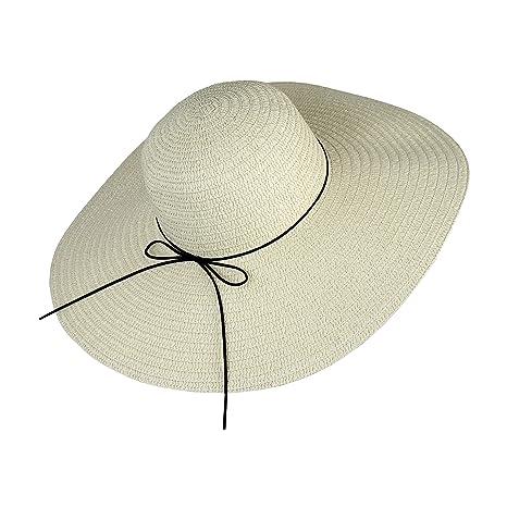Elliott and Oliver Co. Boho Large Straw Floppy Sun Hat- Wide Brim Derby  Beach bd5e809319e9