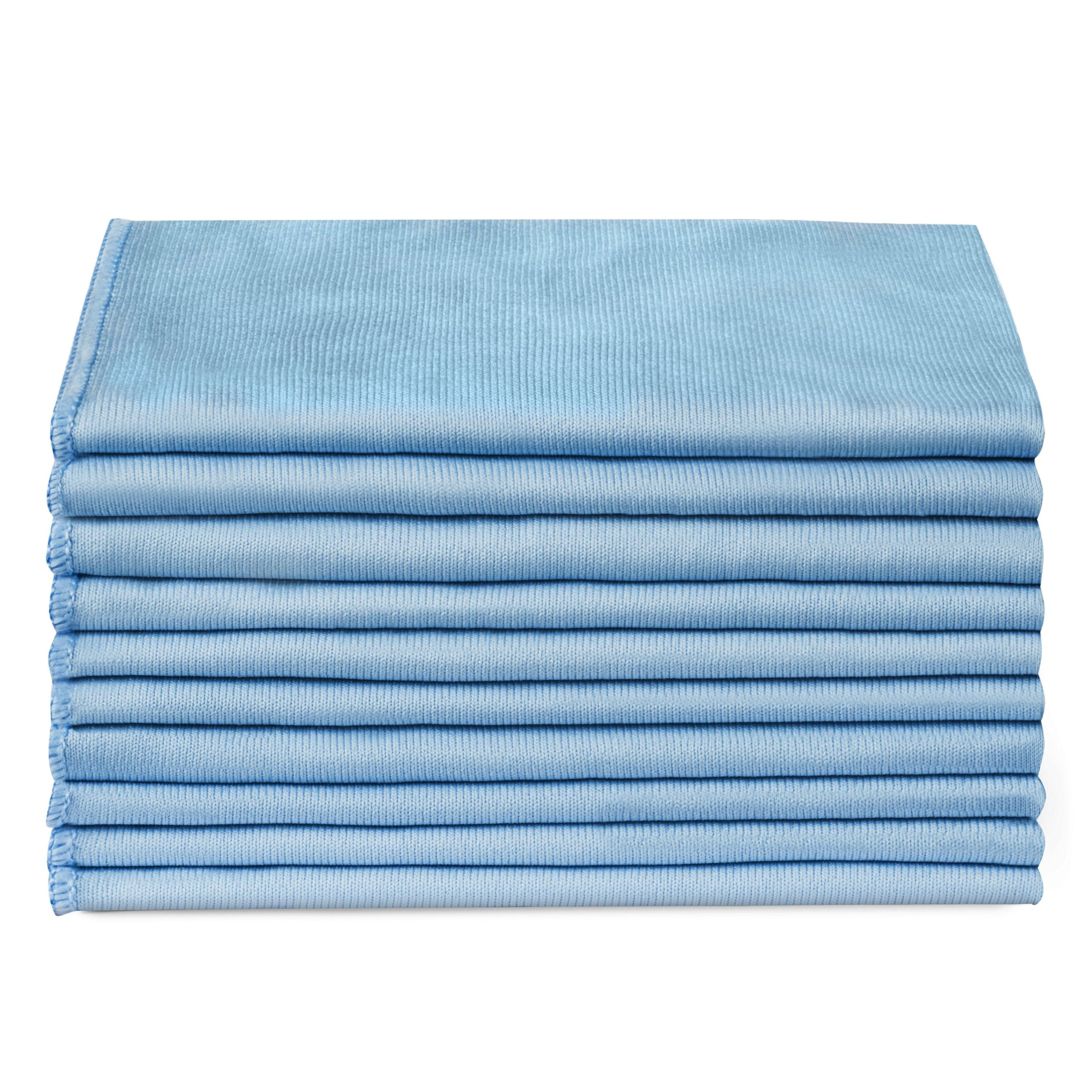 1aa64668a7c Zflow Microfiber Glass Cleaning Cloths - 8 Pack (16 x 16) - Streak Free - Lint  Free - Quickly Clean Windows