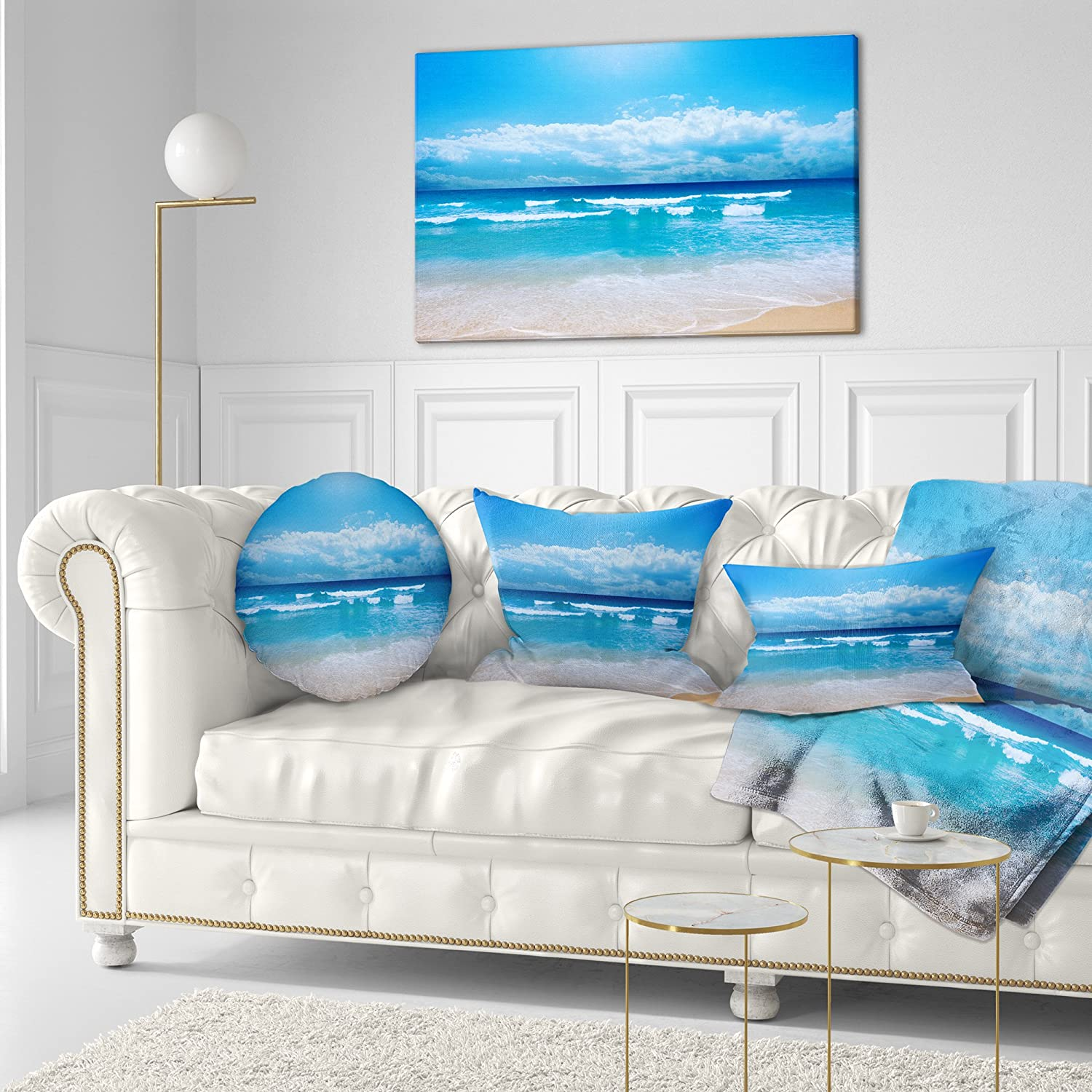 Wondrous Designart Cu6808 12 20 Paradise Beach Seascape Photography Ibusinesslaw Wood Chair Design Ideas Ibusinesslaworg