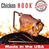 The Chicken Hook by The Elevated Cook Stainless Steel Inverted Suspension Chicken Roaster, Rotisserie and Beer Can Chicken Alternative