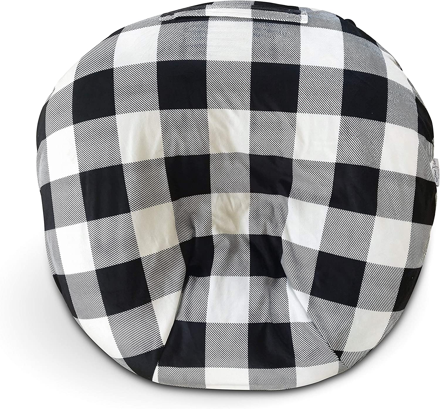 Removable /& Washable Fits Boppy Infant Lounger Pillow not Included Minky Black White Buffalo Plaid Newborn Lounger Cover Minky Farmhouse Look Premium Soft Quality Great Baby Shower Gift
