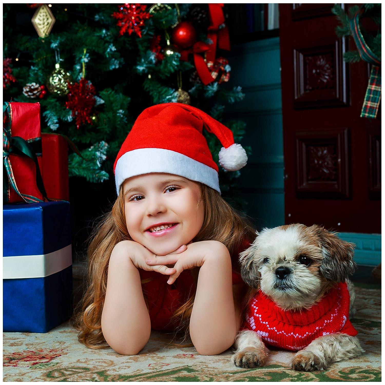 88e773154775a ... Santa Hat - 20 Pack - Plain Design - Red   White - Wear at A ...