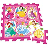 Stamp - TP880002 - Puzzle de sol - TAPIS MOUSSE - 9 Pièces - 88 x 88 cm - Princesses Disney - Sac À Dos Pour Transport