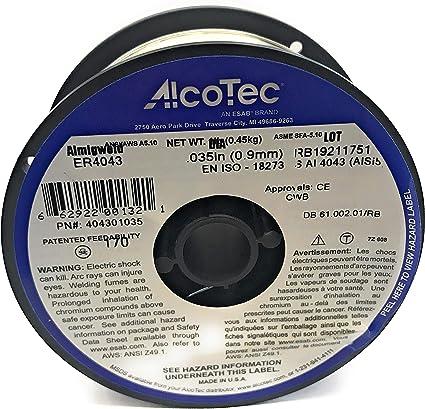 20 lb. Cartons Spool Harris 0404321 4043 Aluminum MIG Welding Wire 3//64 x 1 lb