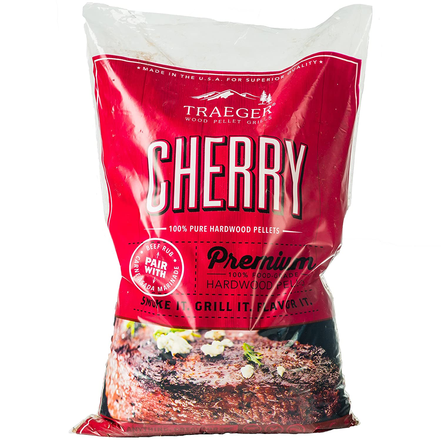 Traeger PEL309 Cherry Barbecue Pellets, 20-Pound