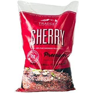 Traeger PEL309 Grills Cherry 100% All-Natural Hardwood Pellets - Grill, Smoke, Bake, Roast, Braise, and BBQ (20 lb. Bag)