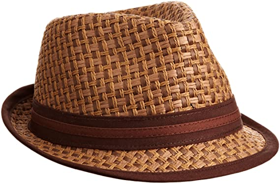 Menu0027s Eric B Fedora, Brown, Small