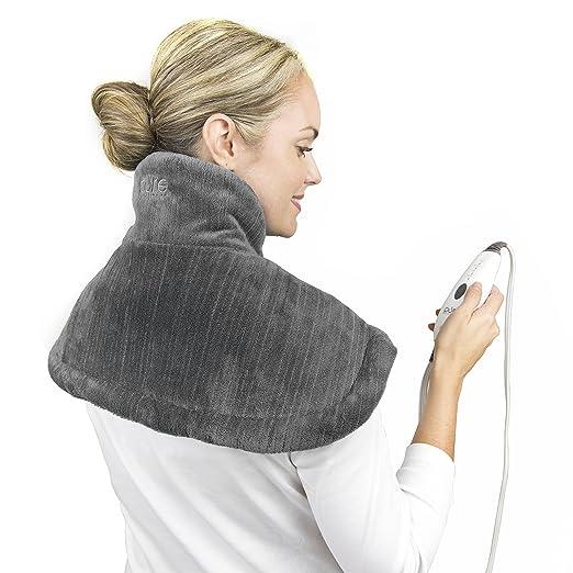 肩颈理疗发热小毯子。肩膀脖子暖暖,晚上睡得香,白天精神好