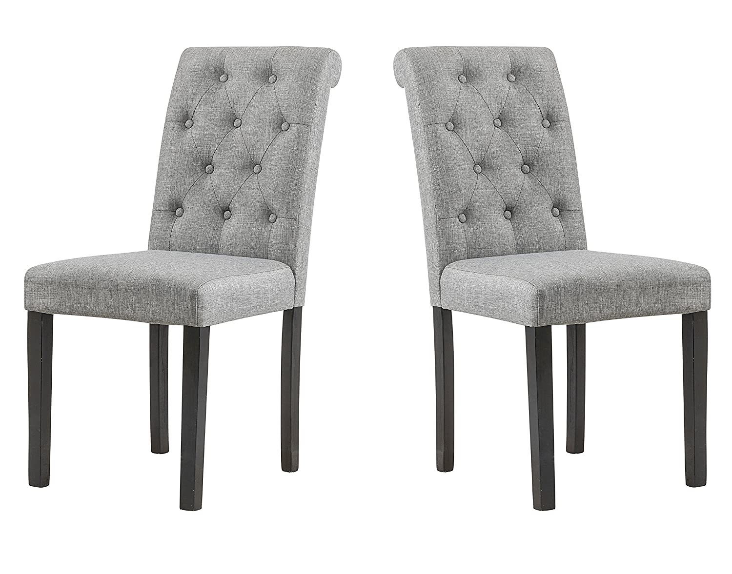 Amazon Com Yeefy Habit Solid Wood Tufted Parsons Dining Chair Set