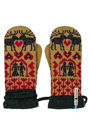 6910dce93cf Öjbro Swedish made 100% Merino Wool Soft Thick   Extremely Warm Mittens  (Small