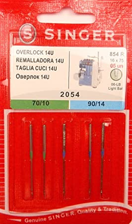 Singer Overlock 14U - Agujas para máquina de coser (5 unidades ...