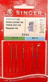 5 original Singer Overlock 14U coser agujas 2054 grosor 70/10 y 90/14