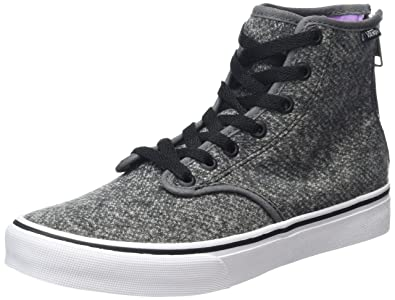 vans damen high grau