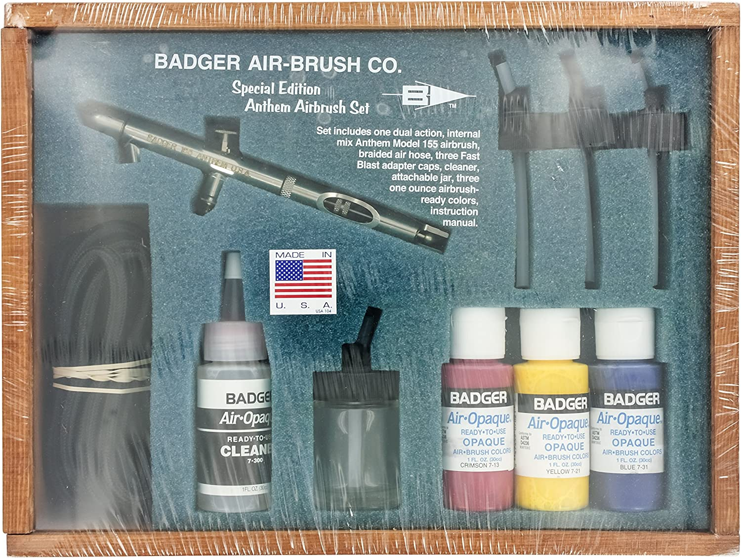 Badger Anthem 155 Dual-Action Airbrush Deluxe Set Bottom Feed 155-7