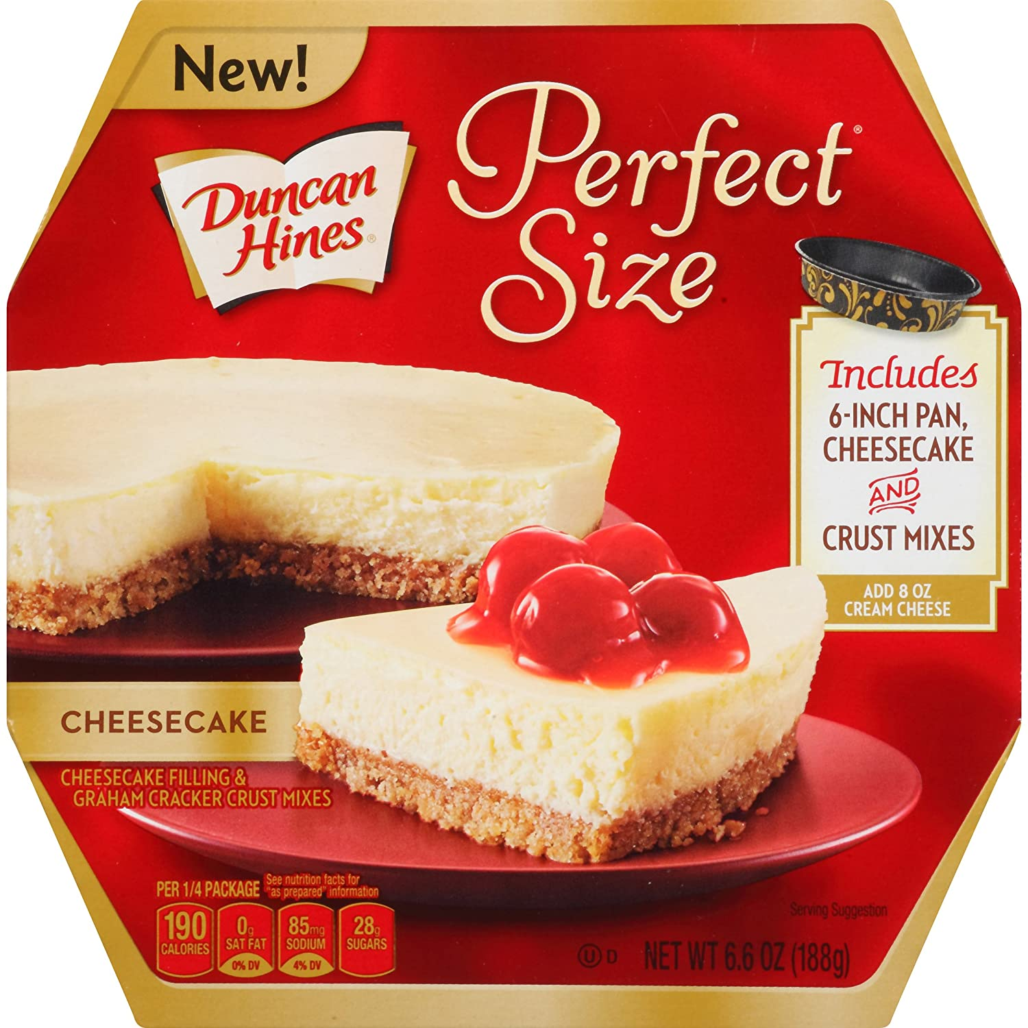 amazon com duncan hines perfect size dessert mix cheesecake 6 6