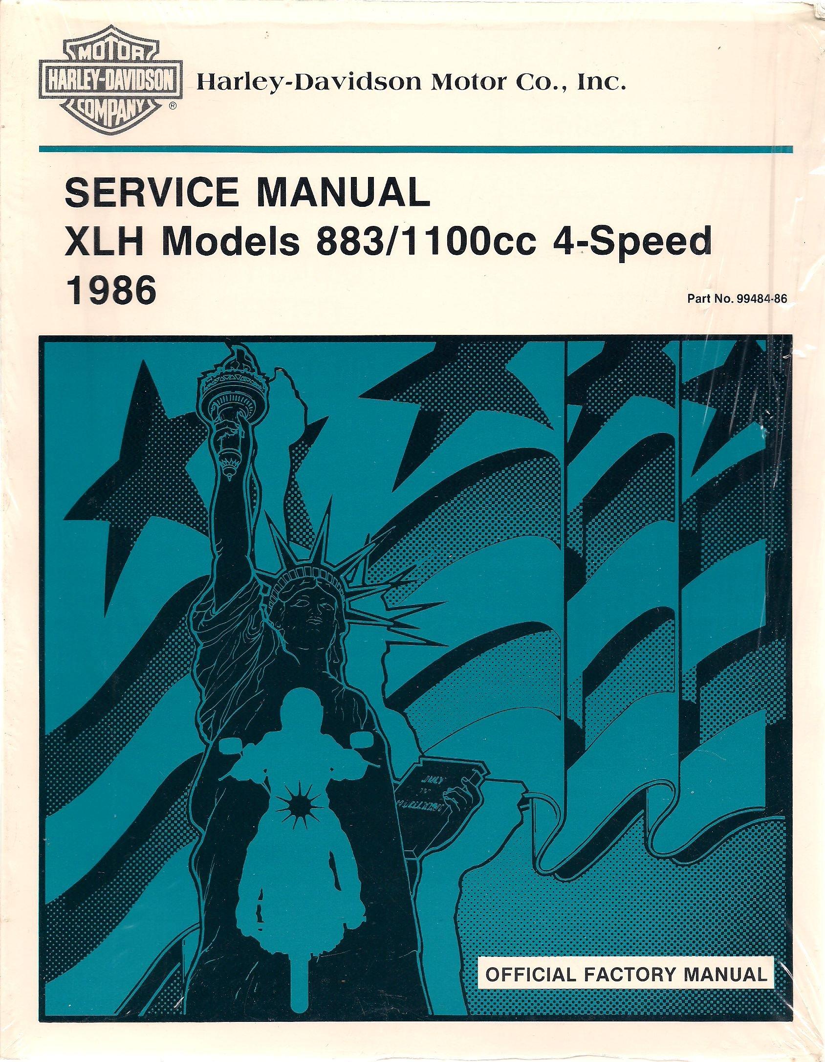 1986 Harley-Davidson XLH Models 883/1100cc 4-Speed Service Manual, Part  Number 99484-86: Inc. Harley-Davidson Motor Co.: Amazon.com: Books